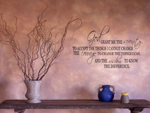 Serenity Prayer Wall Decal Quote Vinyl Love Large Nice Sticker Religious