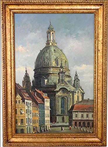Handgemalte Florence Castle Leinwand-Malerei Dekorative Wandbilder Modern Home abstrakte ?l Bild Set ohne Rahmen 16x20 Zoll