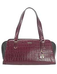 Adamis Beautiful Designed Handbag (Purple_B704)