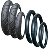 A SET OF TYRES AND TUBES FOR AN QUINNY SPEEDI SX PUSHCHAIR