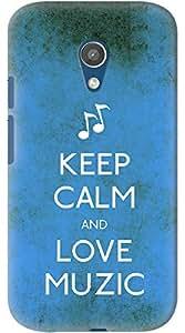 Kasemantra Keep Calm And Love Muzic Case For Moto G2