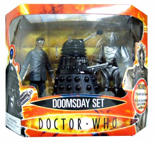 "Doctor Who Doomsday Action Figure Boxed Set - 5"" Figures Set Of 3"