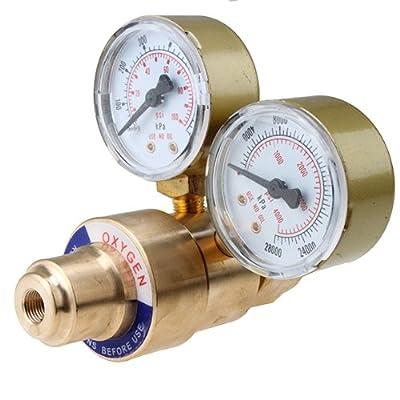 AGPtEK® CGA 540 Female Oxygen Regulator Welding Gas Welder Gauges Oxy for Victor Torch Cutting Kits