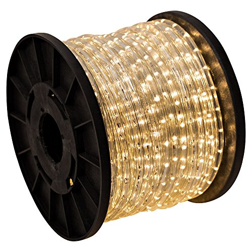 150'ft Warm White 2-Wire LED Rope Light Flexible Home Outdoor Christmas Lighting 110v
