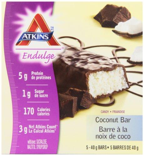Atkins Endulge Chocolate Coconut Bars, 5 count bars