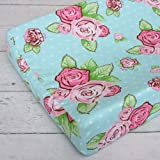 Caden Lane Boutique Collection Rose Dot Changing Pad Cover, Pink