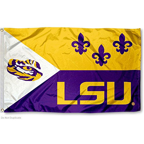 LSU Tigers Large Acadian 3x5 College Flag