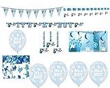 Toy - Boy Komplettset Girlande Konfetti Luftballons Girlanden Babyparty