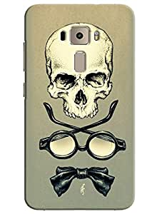 Omnam Skelton With Shades And Bow Printed Designer Back Cover Case For Asus Zenfone 3 ZE552KL