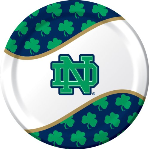 Creative Converting Notre Dame Fighting Irish Dinner Paper Plates (8 Count)