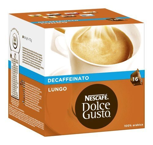 Nescafe Dolce Gusto Lungo Decaffeinated 16 Capsules (Pack of 3)
