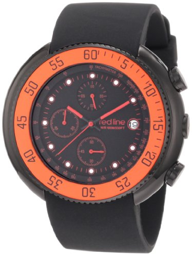 Red Line Driver 50038-BB-01-RDBZ 50 Stainless Steel Case Black Band Mineral Men's Quartz Watch