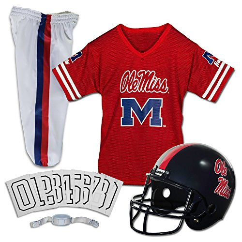 Franklin Sports NCAA Ole Miss Rebels Deluxe Youth Team Uniform Set, Small