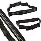 Lilware Safety Invisible Waist Bag. Flexible and Adjustable Belt For Running, Cycling, Walking, Geocaching and Other Activities. Black