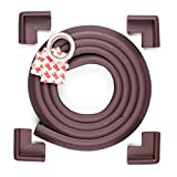 Premium Furniture Edge and Corner Safety Bumpers From Edge Armor™ - Ensure Your Childrens Safety at Home - 3 Stylish Color Options - Includes 4 CORNER Cushions PLUS 2 METERS of Edge Guard - 100% Lifetime Satisfaction Guarantee on All Genuine Edge Armor™ Products - Dark Brown