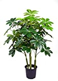 Ginni Bloom 52 Leaf Artificial Frangipani Plant - 4 ft, set of 4 (without vase)