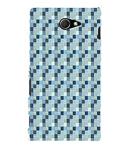 EPICCASE blue bricks Mobile Back Case Cover For Sony Xperia M2 (Designer Case)