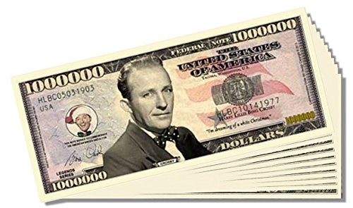 Bing Crosby Million Dollar Bill - 10 Count with Bonus Clear Protector & Christopher Columbus Bill