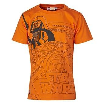 Lego Wear - T - Shirt Garçon - Orange - Orange - FR : 4 ans (Taille Fabricant : 104) (Brand size: 104)
