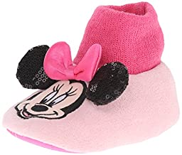Favorite Characters Girl\'s Disney® Minnie MNF204 Sock Top Slipper (Infant/Toddler) Pink Boot SM (1-2 Infant/Toddler) M