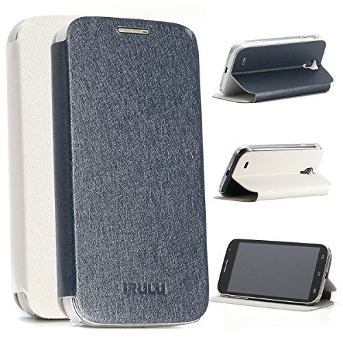 "Irulu Univeral 1(U1) 5.0"" Android 4.2 Smartphone With Phone Case Dual Core 4Gb Rom Dual Camera Cellphone(Black Phone&Blue Case)"
