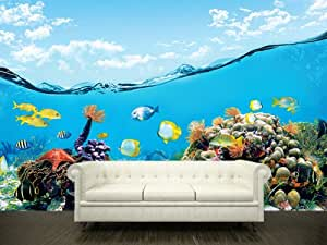 "Wall STICKER MURAL ocean sea underwater decole film 102x157""(260x400cm)"