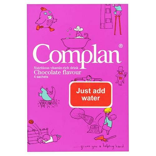 Complan Nutritious Vitamin Rich Drink Chocolate Flavour 4 x 57g Sachets