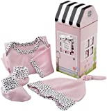 """Welcome Home, Baby"" Cotton Layette Gift Set, 3 Pieces, in Pink"
