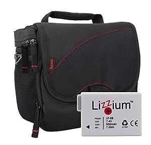 EOS Bundle Tasche für CANON EOS 550D 600D 650D 700D +Qualitäts Ersatzakku LP-E8 Fototasche