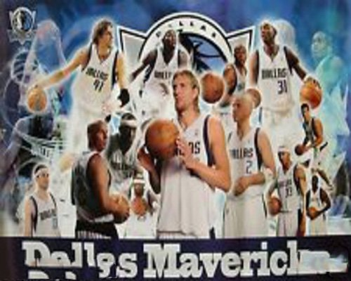 Dallas Mavericks Poster - Collage Of Players, Dirk Nowitzki, Jason Kidd, Terry Music Poster