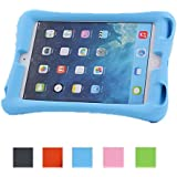 NEWSTYLE Shock Proof Case Light Weight Kids Super Protection Cover with Audio Amplifier Design for Apple iPad mini / iPad mimi 2 / iPad mini 3 3rd Gen (2014 Released) - Blue Color