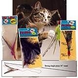 "Da Bird Super Kit (36"" Single Pole, Feather Refill, Sparkly Attachment, Kitty, Puff and Fun Fur)"