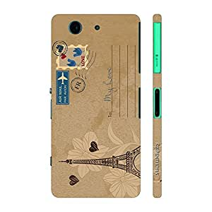 Enthopia Designer Hardshell Case Postcard With Love Back Cover for Sony Xperia Z4 Mini