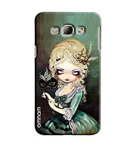 Omnam Beautiful Girl Cartoon Printed Designer Back Case Samsung Galaxy A8