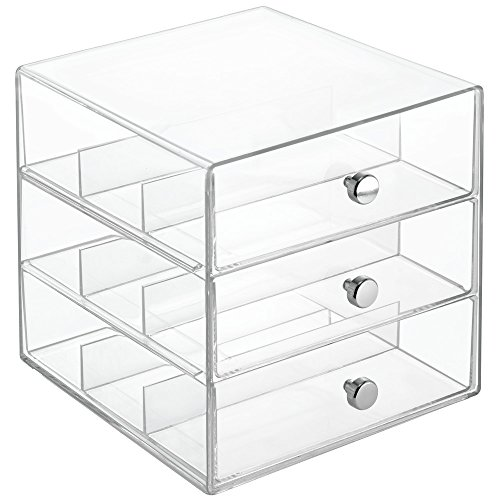 InterDesign Clarity Stackable Organizer Holder for Eyeglasses, Sunglasses and Reading Glasses -  3 Drawers, Clear (Glasses Display compare prices)