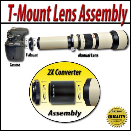 Opteka 650-2600mm High Definition Telephoto Zoom Lens for Nikon D4, D3X, D3, D800, D700, D300S, D300, D90, D60, D40, D7000, D5200, D5100, D5000, D3200, D3100 and D3000 Digital SLR Cameras