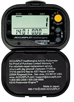 Accusplit Health Engine Ah190m28 Pedometerstep Counter With Auto-activity Timer from Accusplit