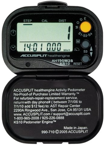 JZSIW ACCUSPLIT Health Engine AH190M28 Pedometer/Step Counter with Auto-Activity Timer