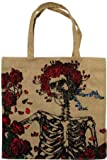 Grateful Dead Tote Bag~ Bertha Skull and Roses ~ Measures: 16 Wide, 16 Tall, 7 Deep.