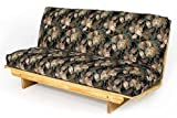 Queen Size Super EZ Futon Frame Solid Wood Sofa Bed Couch To Bed in Less Than A Minute