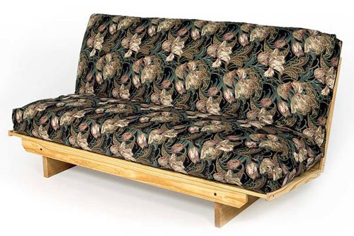 Full Size Super EZ Futon Frame Solid Wood Sofa Bed Couch To Bed in Less Than A Minute
