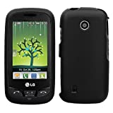Black Rubberized Protector Case for LG Cosmos Touch VN270