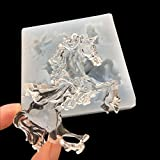 DOYOLLA 4 Designs Clear Unicorn Silicone Mold DIY Resin Jewelry Making Necklace Pendant Ring Pendant Casting Mould Craft Tool