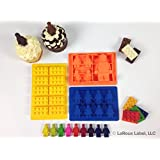 Silicone Chocolate Candy Fondant Soap Ice molds Perfect for Boys and Girls + BONUS Free Tips, Tricks and Recipes!