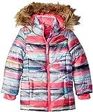 Weatherproof Little Girls' Bubble Jacket with Terry Fleece Lining, Multi, 5/6