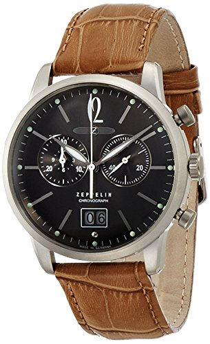 ZEPPELIN-watch-German-Military-LSeries-gray-dial-Chronograph-Date-73861-Mens-regular-imported-goods