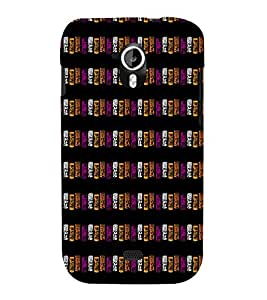 EPICCASE purple blocks Mobile Back Case Cover For Micromax Canvas 2 A110 (Designer Case)