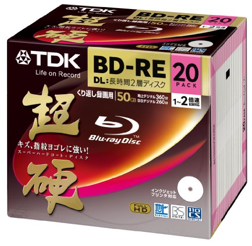 20 TDK Blu-ray Disc 50GB 2X BD-RE DL Dual Layer Rewritable Bluray Inkjet Printable ?Japan import?