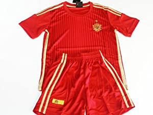 Equipacion Traje Futbol Colores España Camiseta Pantalon Talla 8 Años Niño Mundial 2014 2635b