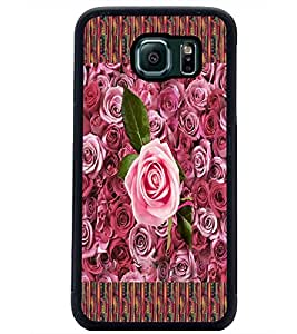 PrintDhaba Flowers D-3018 Back Case Cover for SAMSUNG GALAXY S6 EDGE (Multi-Coloured)